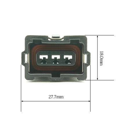 BSH型3極メスコネクター(黒色)