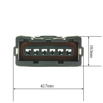 BSH型6極メスコネクター(黒色)