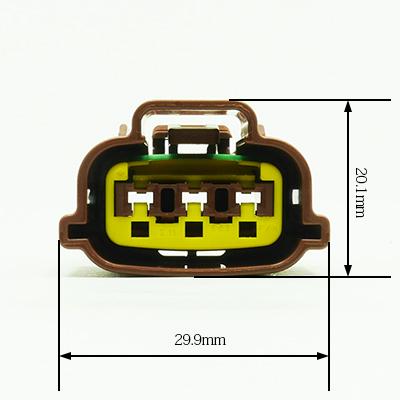 E型3極メスコネクター(茶色)