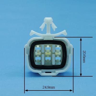 FRS型6極オスコネクター(白色)