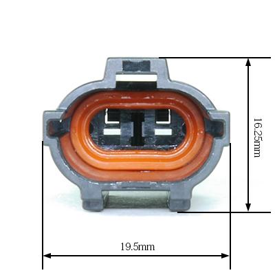 FRY型2極オスコネクター(黒色)