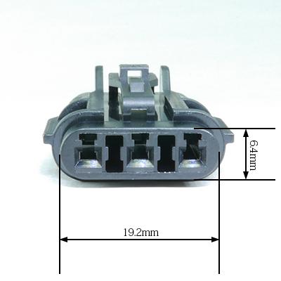 FRY型3極メスコネクター(黒色)