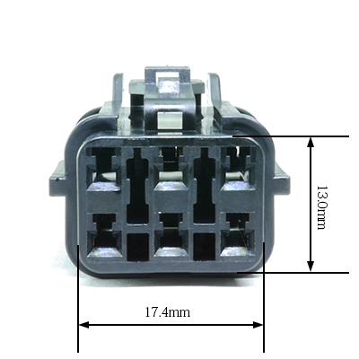 FRY型6極メスコネクター(黒色)