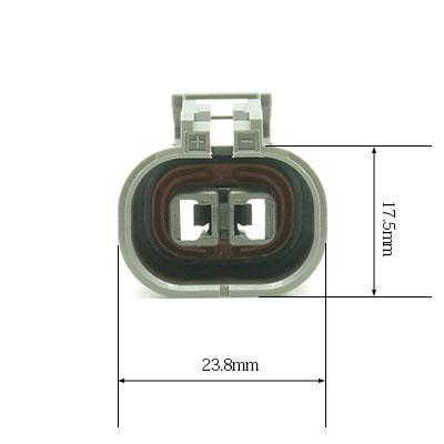 W型2極メスコネクター(灰色)