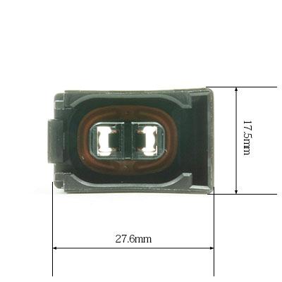 W型2極メスコネクター(黒色)