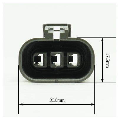 W型3極メスコネクター(灰色)