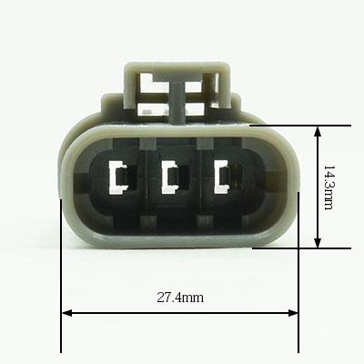 W型3極オスコネクター(灰色)