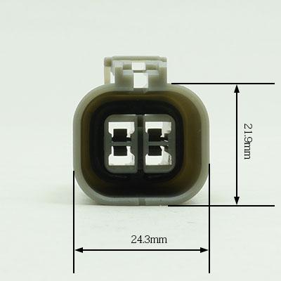 W型4極メスコネクター(灰色)