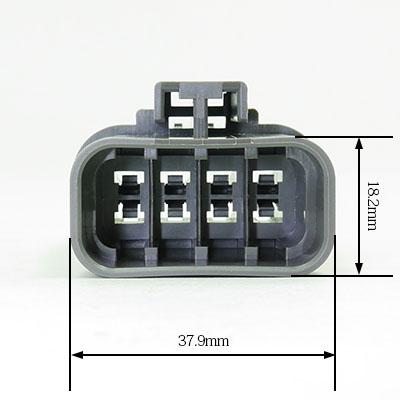 W型8極オスコネクター(灰色)