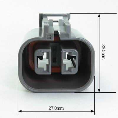 X型2極メスコネクター(灰色)