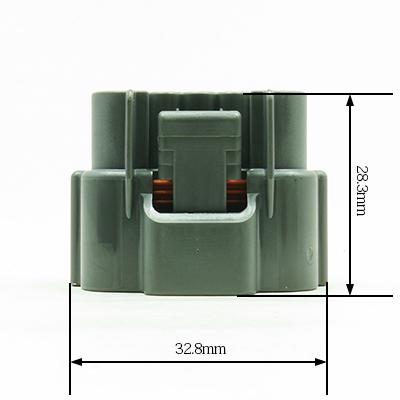 E型4極メスコネクター(灰色)
