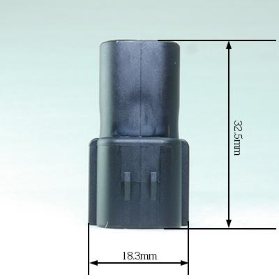 FRA型2極オスコネクター(黒色)