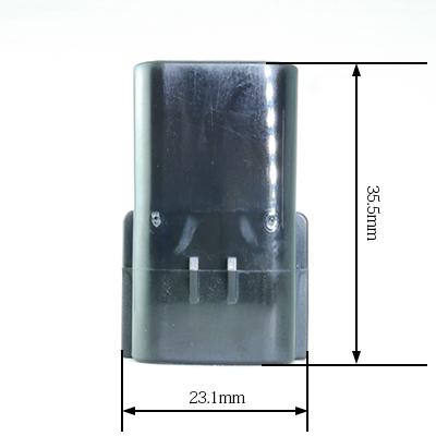 FRA型6極オスコネクター(黒色)