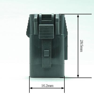 FRM型3極メスコネクター(灰色)