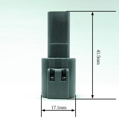 FRM型4極オスコネクター(灰色)