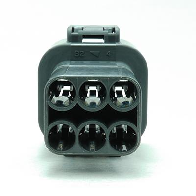 FRM型6極オスコネクター(灰色)