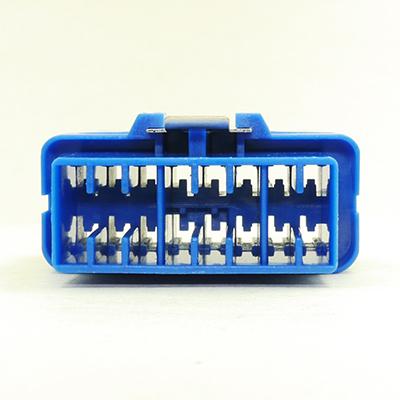 OBD型16極オスコネクターH TypeB24V(青色)