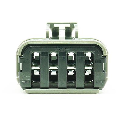 W型8極メスコネクター(灰色)