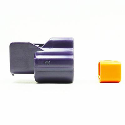 E型2極メスコネクター(紫色)