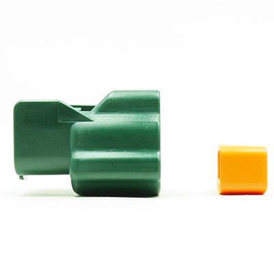 E型2極メスコネクター(緑色)