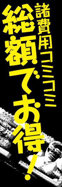 諸費用コミコミ 総額でお得!|のぼり(10枚〜)