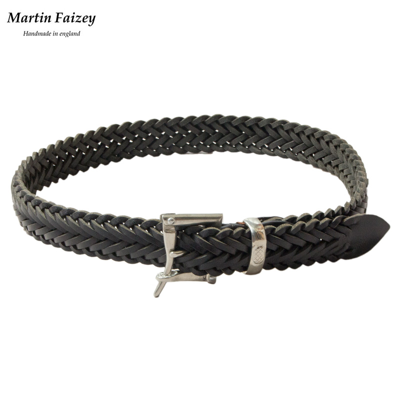 Martin Faizey [マーチン・フェイジー] - Quick Release Mesh Belt _ Pewter / Black