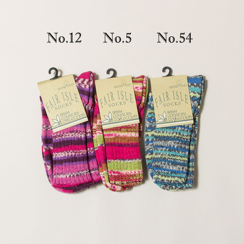 GRANGE CRAFT [グランジェクラフト] - FAIRISLE WOOL SOCKS  / 10Col.
