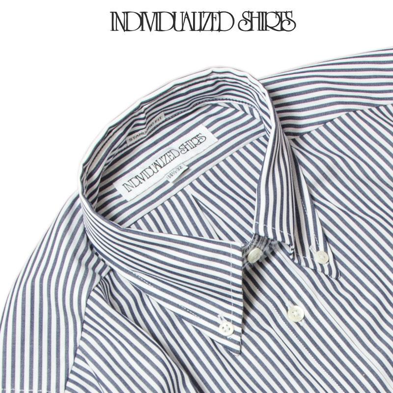 INDIVIDUALIZED SHIRTS [インディビジュアライズドシャツ] - STANDARD  FIT - Classic Bangal Stripe / NAVY