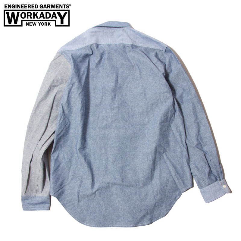 EG Workaday [エンジニアードガーメンツ・ワーカデイ] _ Utility Shirt Combo _ Cotton Chambray / Blue
