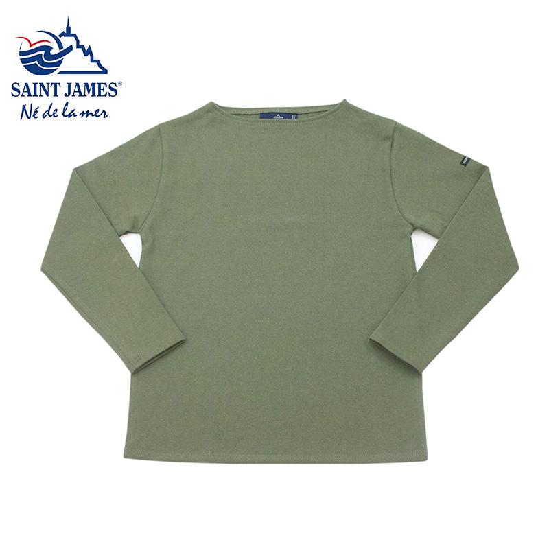 "Saint James [セントジェームス] - OUESSANT ""SOLID"" ウエッソン ""無地"" / ALGUE[シーグリーン]"