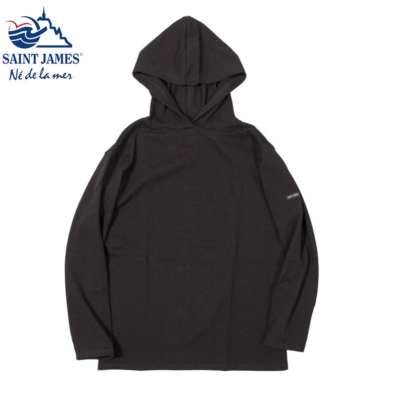 Saint James [セントジェームス] - プルオーバーパーカー COTTON 100% / NOIR(BLACK)