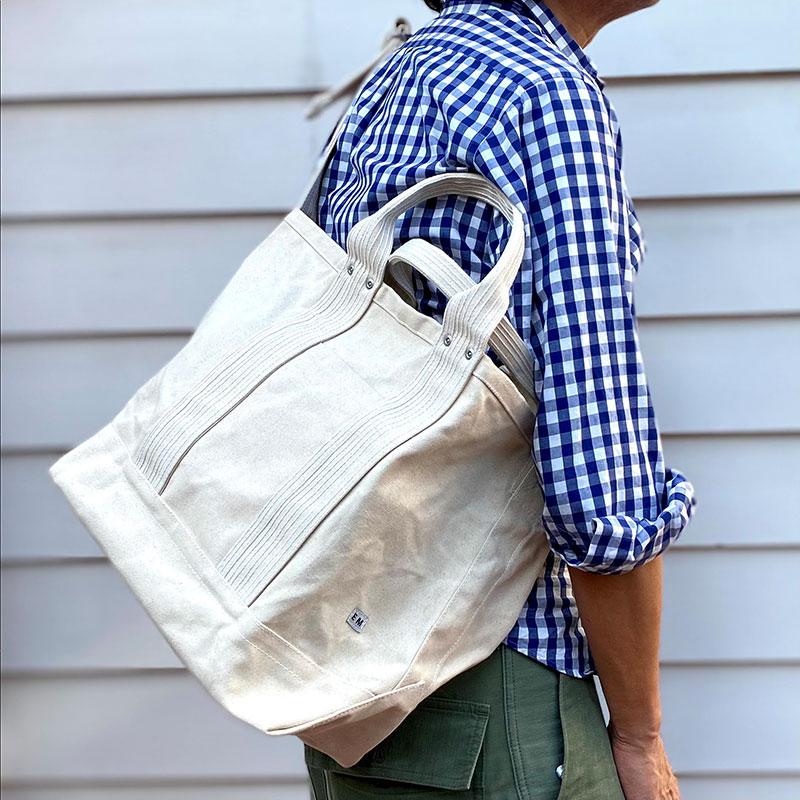 ENDS and MEANS [エンズアンドミーンズ] _ 2way tote bag / Natural