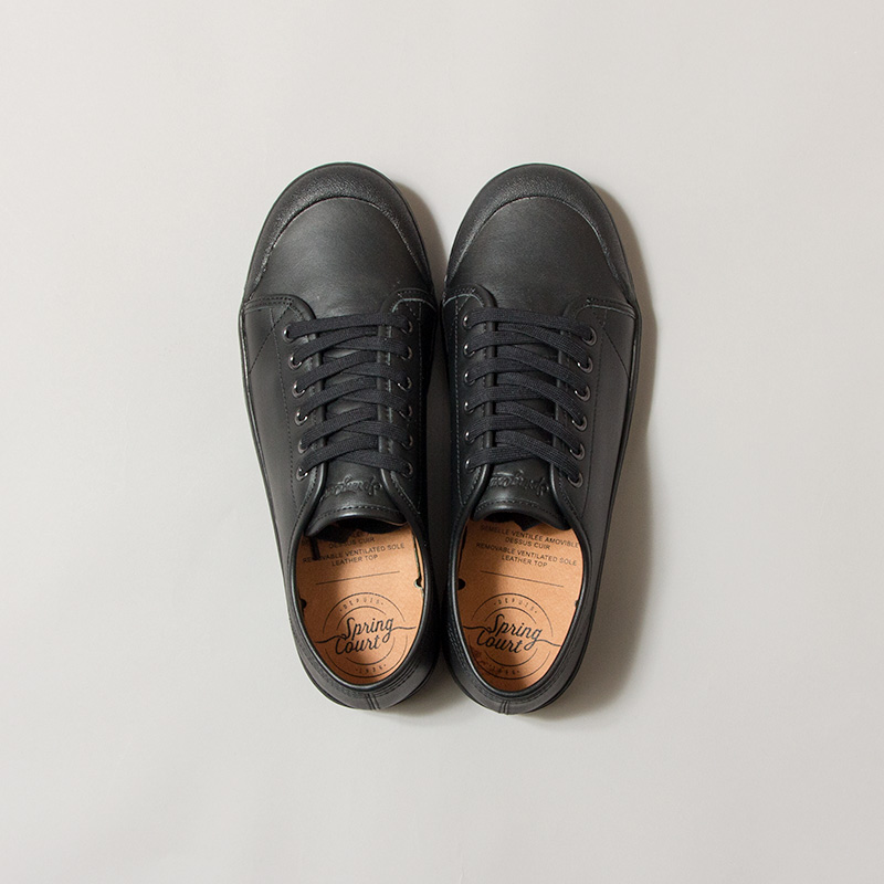 Spring Court [スプリング・コート] - CLASSIC G2 LO CUT NAPPA LEATHER / BLACK