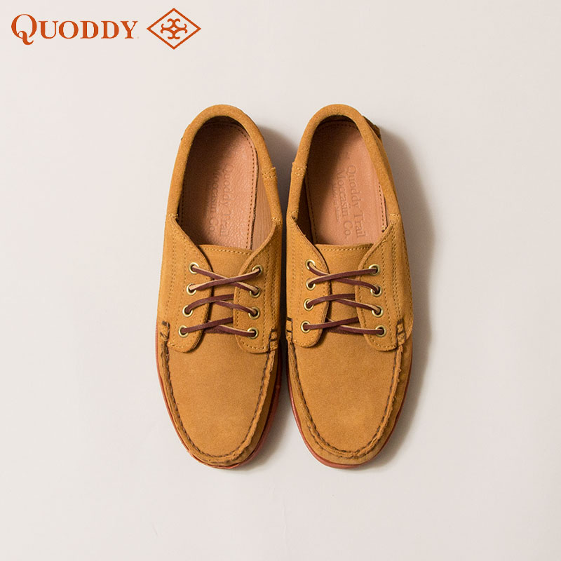 QUODDY TRAIL MOCCASIN [クオディ・トレイルモカシン] - Maliseet Oxford _ Brick Vibram Rugged Lug Sole / Toast Suede