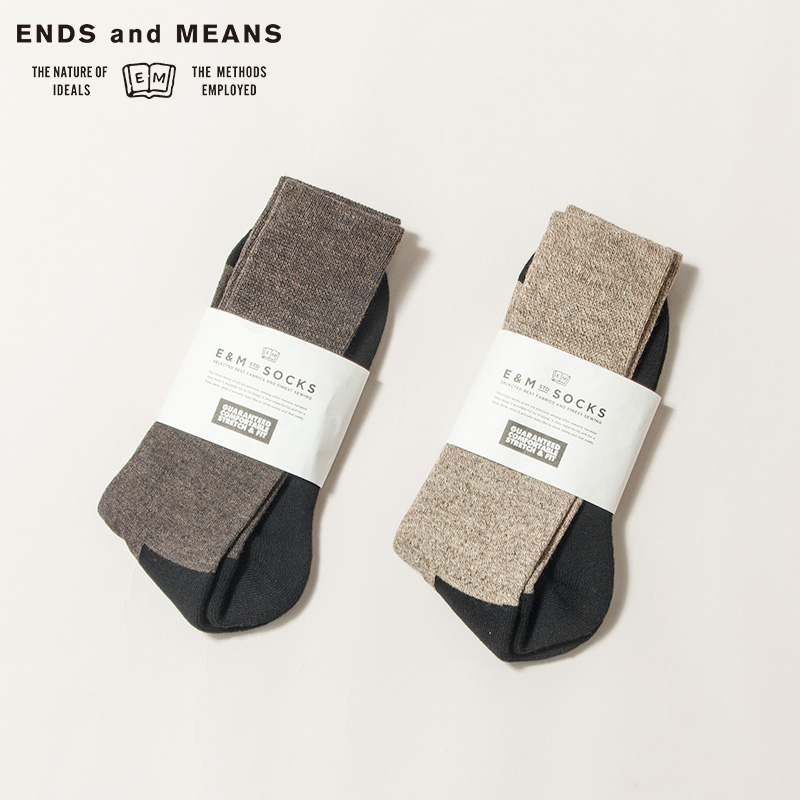ENDS and MEANS [エンズアンドミーンズ] - SOCKS  / 2Col.