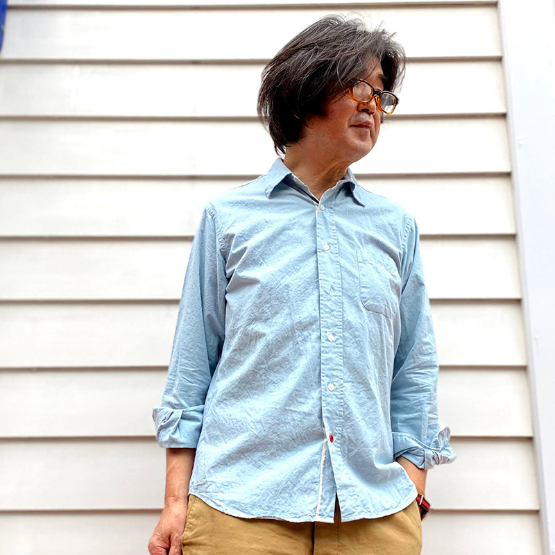 CASSIDY HOME GROWN [キャシディ・ホームグロウン] _ CHAMBRAY SELVEDGE REGULAR COLLAR SHIRT