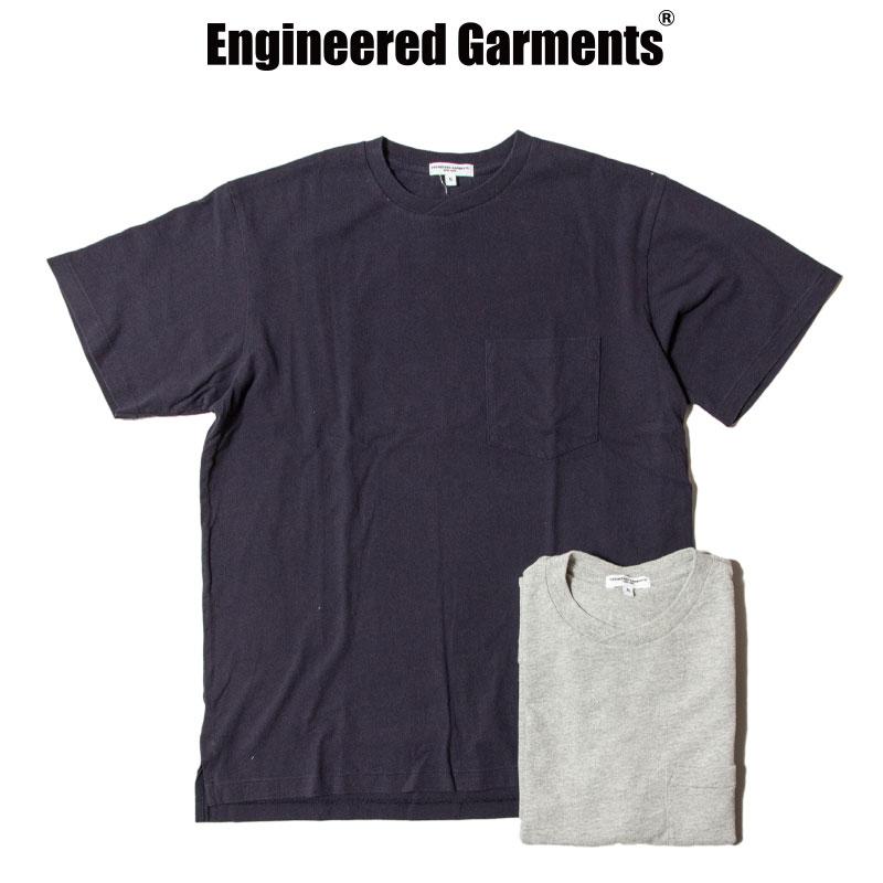 EG Workaday [エンジニアードガーメンツ・ワーカデイ] - Crossover Neck Pocket Tee - Solid / 3Col.