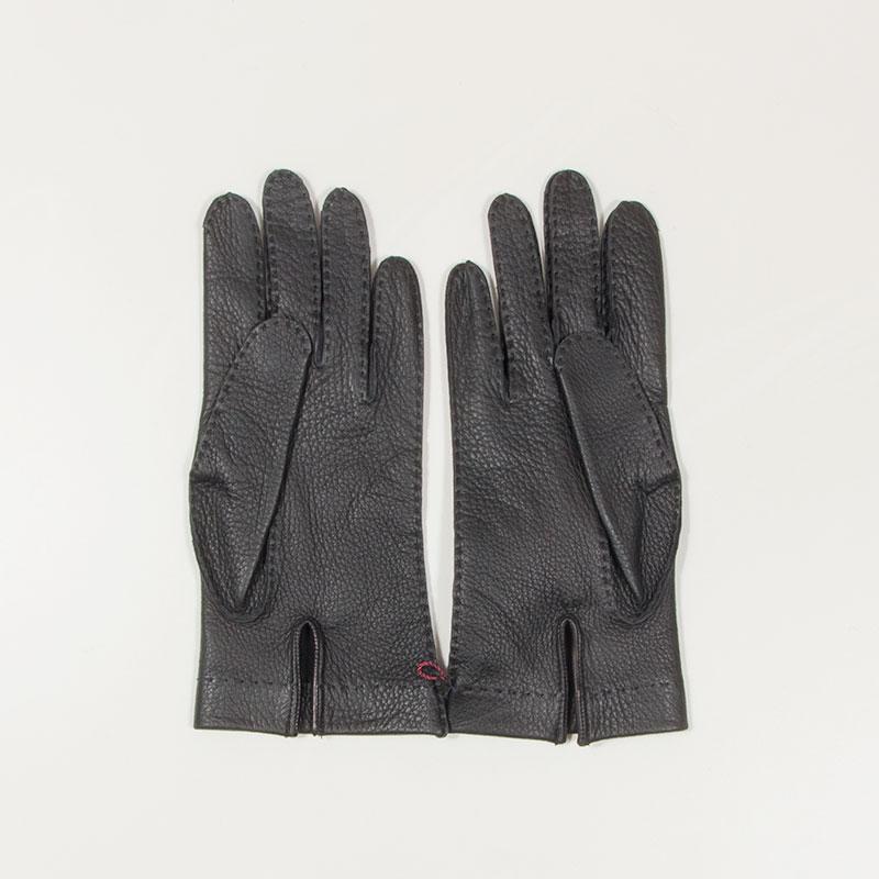 DENTS [デンツ] - LEATHER GLOVES_15-1557 手縫いディアスキン / BLACK