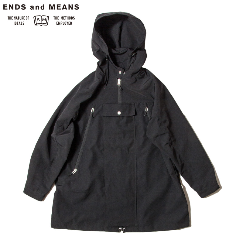 ENDS and MEANS [エンズアンドミーンズ] _ Field Parka / Black