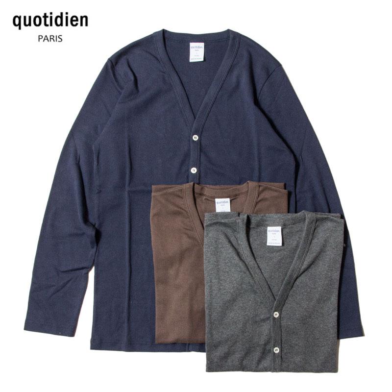 quotidien [コティディアン] _ V・カーディガン / 3Col.