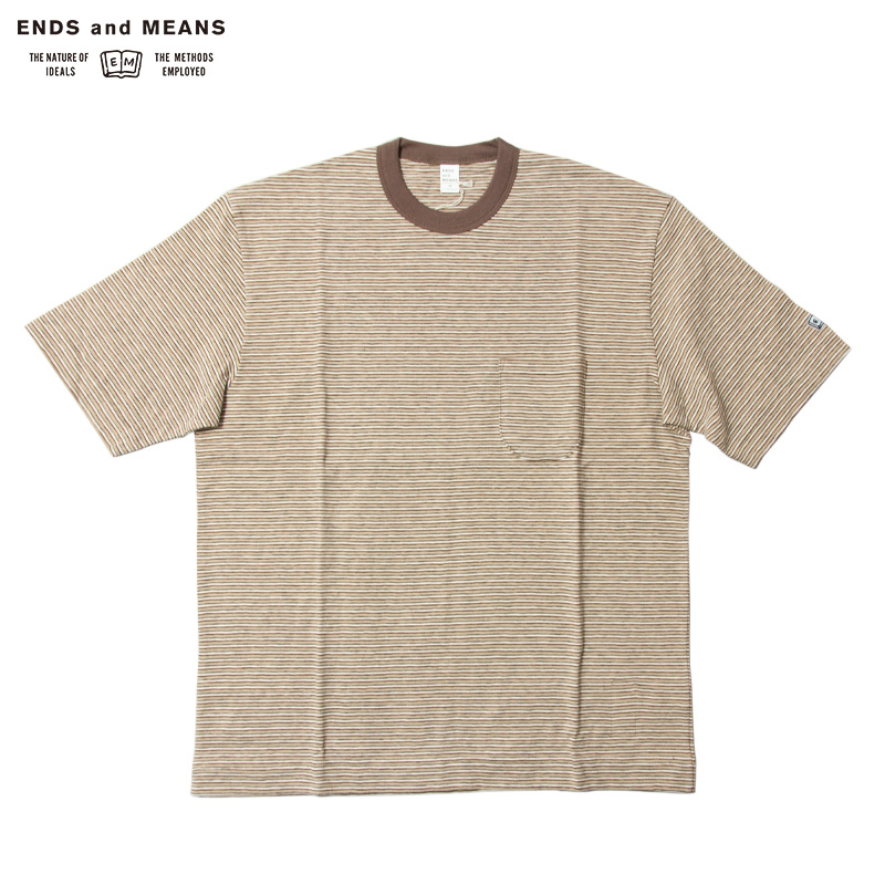 ENDS and MEANS [エンズアンドミーンズ] - Poket Tee / Brown BD