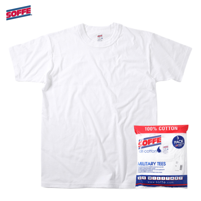 SOFFE [ソフィー] - アメリカ製 3PACK Tシャツ _ MILITARY TEES / 3Col.