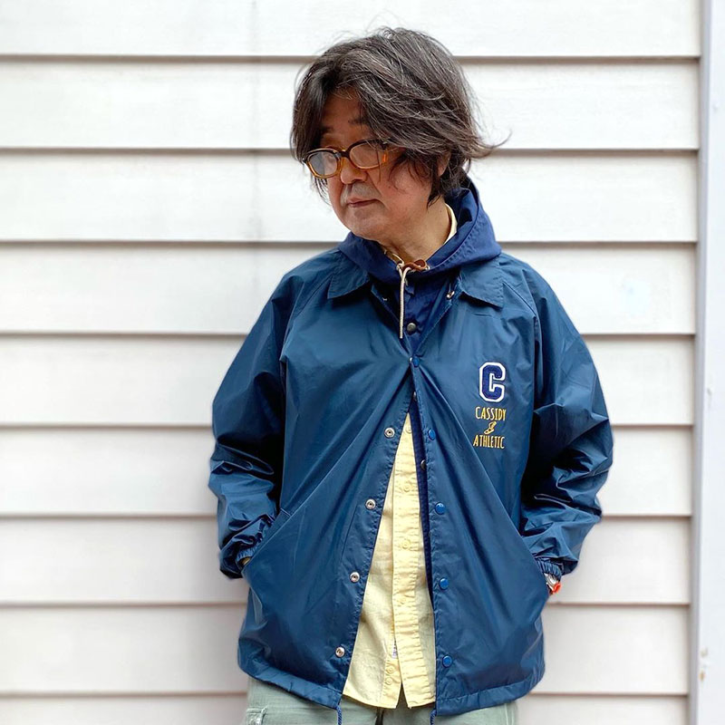 CASSIDY ATHLETIC [キャシデイ アスレチック] - CARDINAL _ LETTERD LINING COACH JACKET / Brown