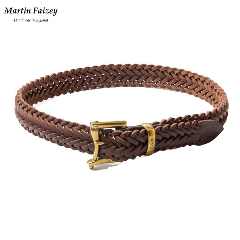 Martin Faizey [マーチン・フェイジー] - Quick Release Mesh Belt _ Brass / Brown