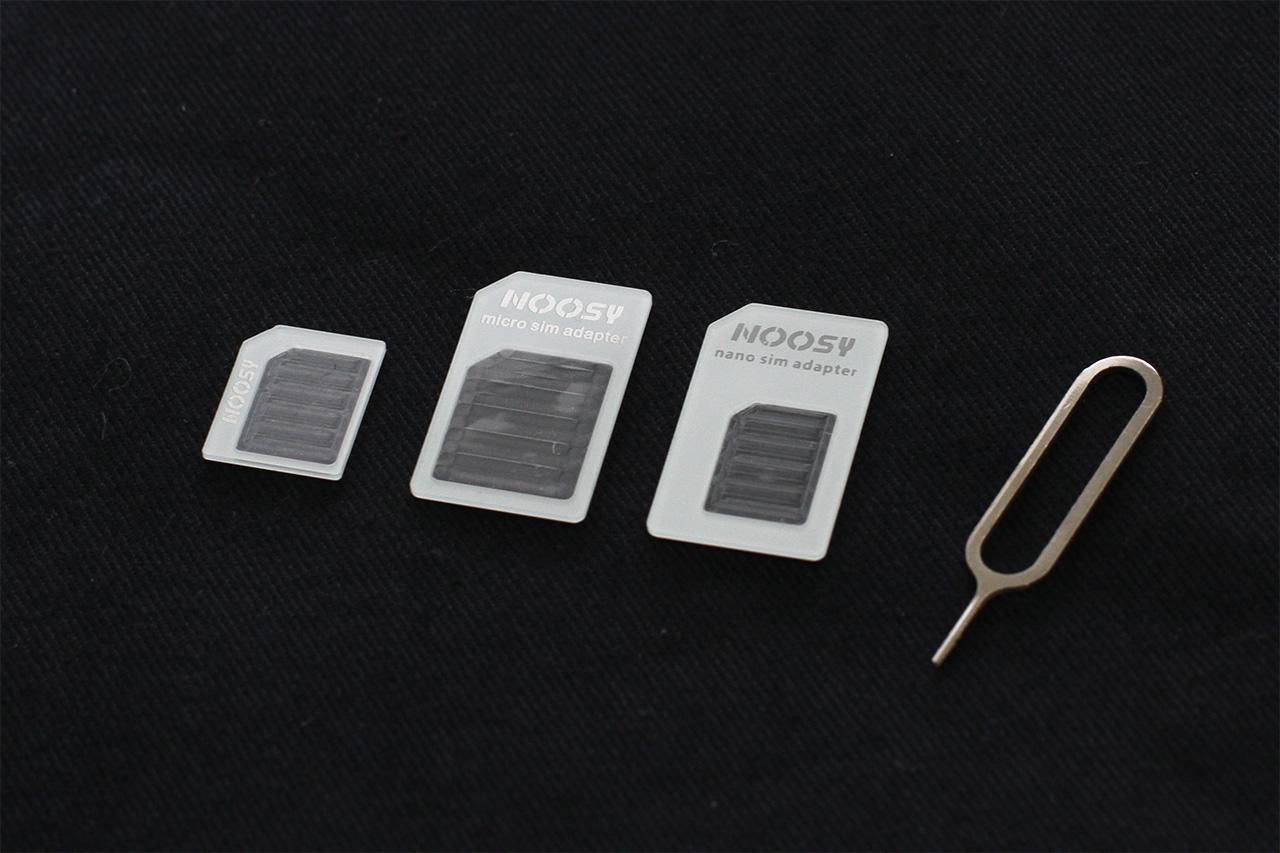 【クリックポスト発送可】NOOSY NANO SIM ADAPTER(SIMカード変換アダプタ)