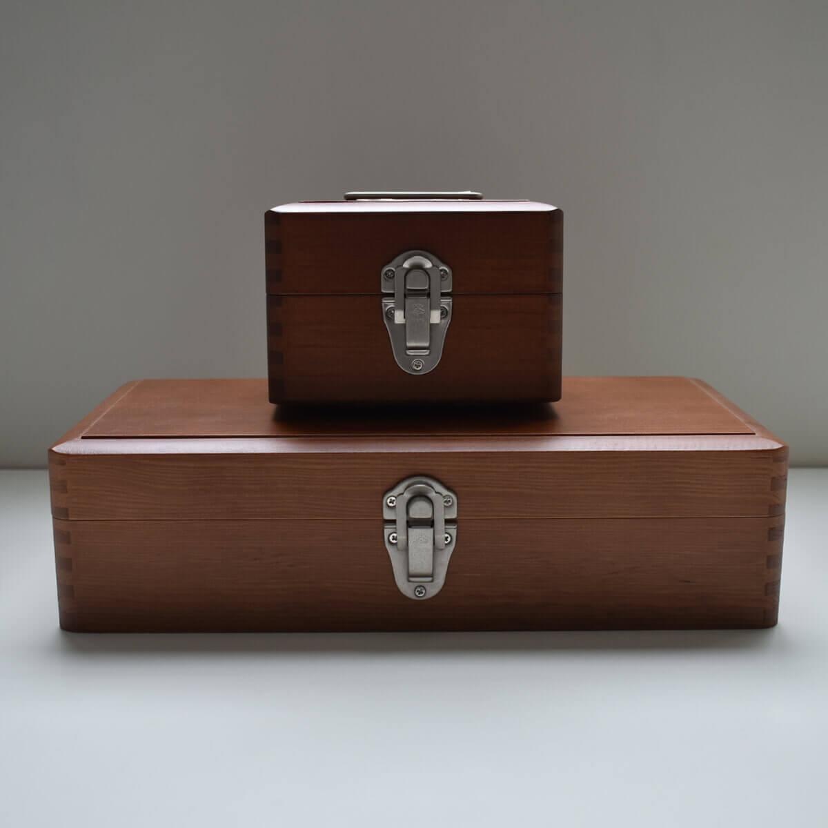 ツガの手提げ小箱とお道具箱