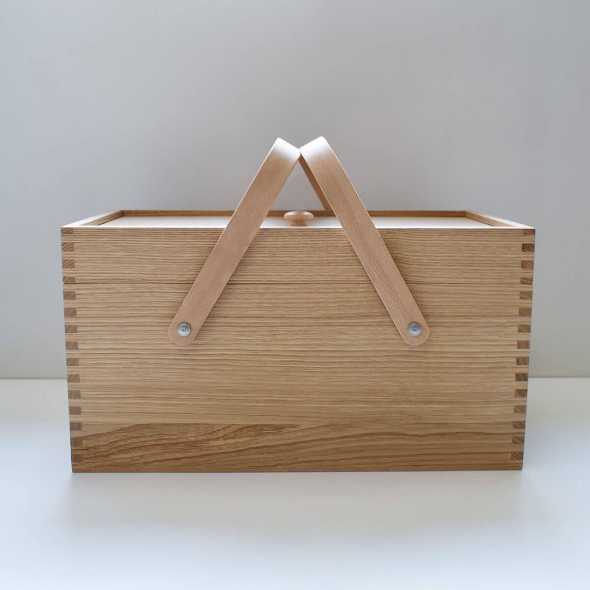 栗のソーイングボックス
