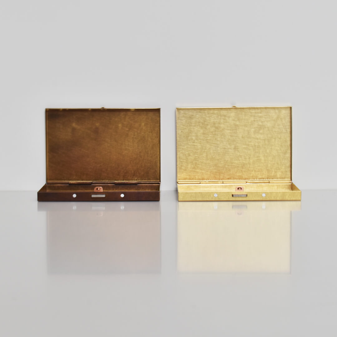 BRASS BOX CARDCASE
