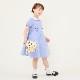 スカラップ襟ミニリボン半袖ワンピース 100 110 120 130cm(8136-8356)