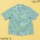 クジラ総柄半袖開襟シャツ 100 110 120 130cm 8133-5401